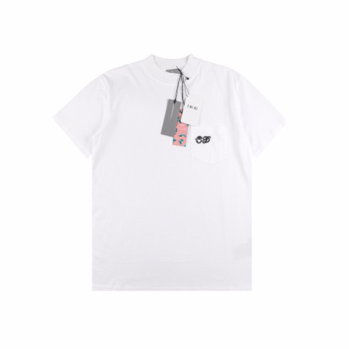 Dior 21ss Elf series pocket embroidery tee White