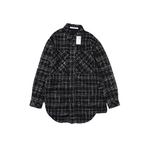Charlie Luciano 19 new style small fragrance woven shirt jacket Black
