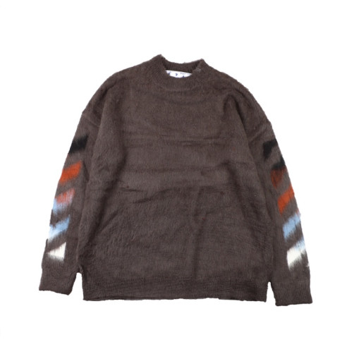 OffWhite 20SS mohair sweater Brown