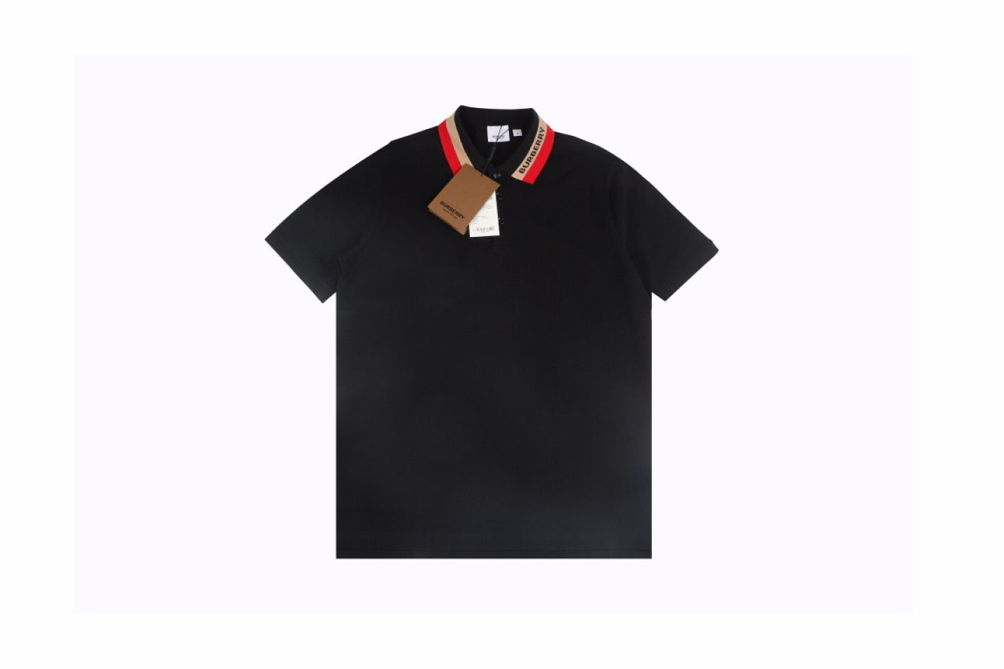 Shirt Burberry 21SS Classic Neckline Embroidered Short Sleeve Polo 1 1