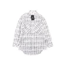 Charlie Luciano 19 new style small fragrance woven shirt jacket White