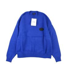 We11 Done campus style pullover Blue