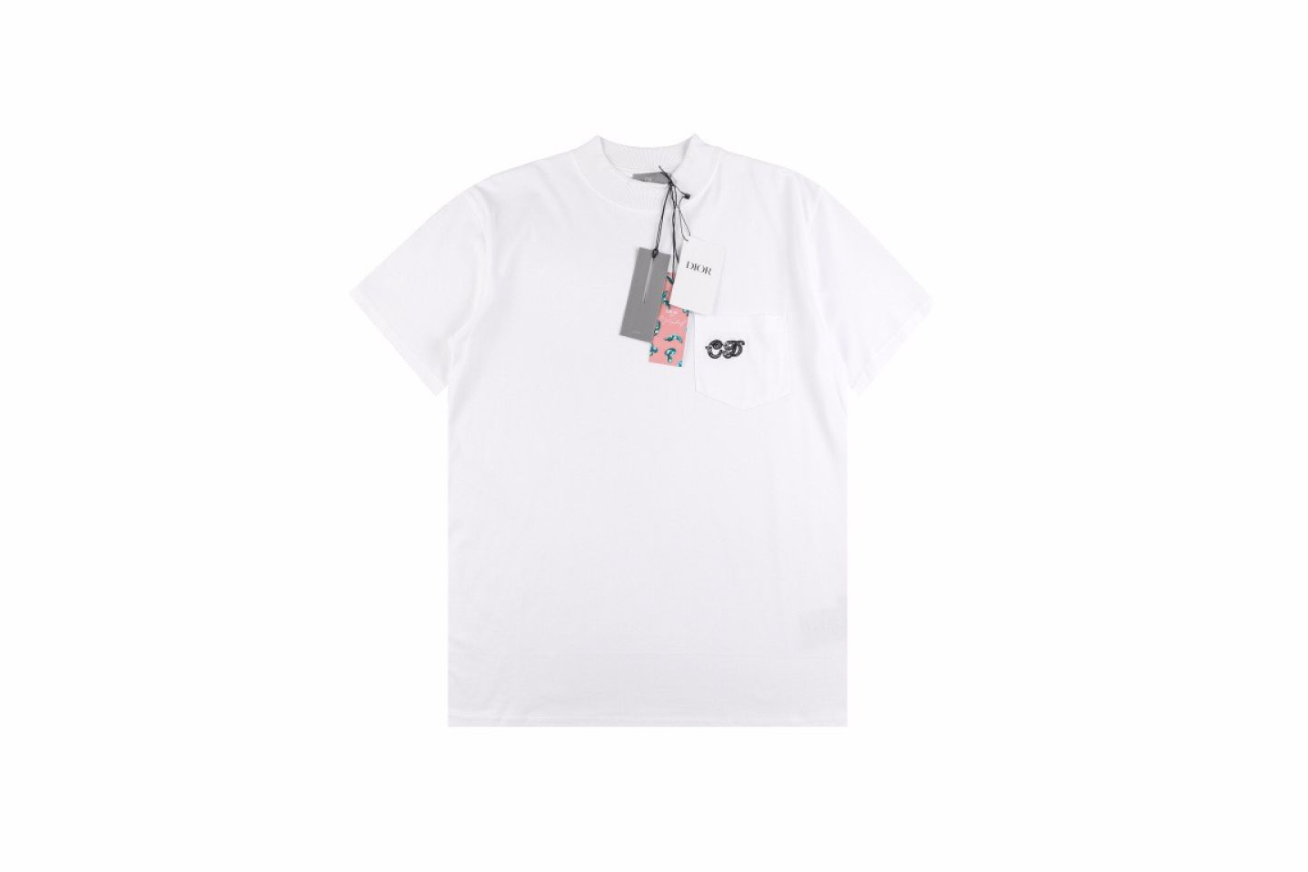 """Shirt Dior 21ss Elf series pocket embroidery tee """"White"""" 1 1"""