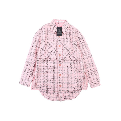 Charlie Luciano 19 new style small fragrance woven shirt jacket Pink