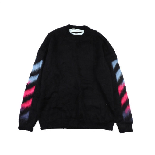 OffWhite 20SS mohair sweater Blue Purple