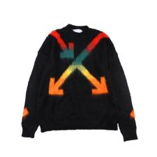 OffWhite 20SS mohair sweater intarsia jaqcuard Multicolor