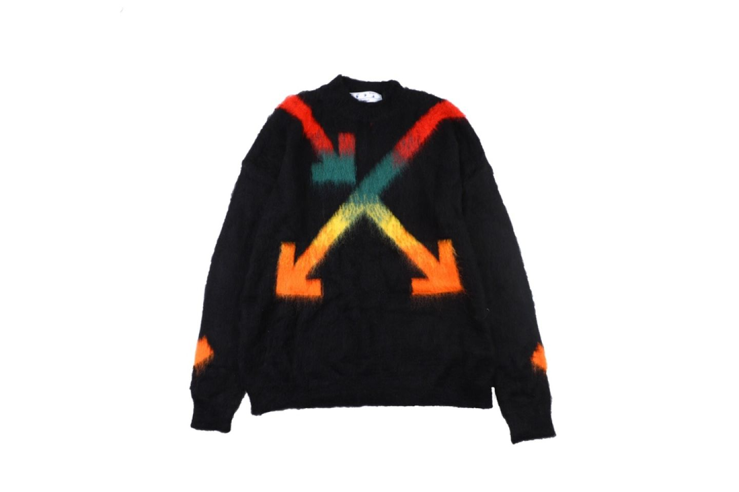 """Shirt Off-White 20SS mohair sweater intarsia jaqcuard """"Multicolor"""" 1 1"""