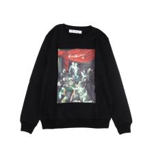 OffWhite 20fw big religious round neck sweater Black