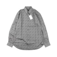 Balencaiga Paris 20fw grey barrage full printed letter shirt