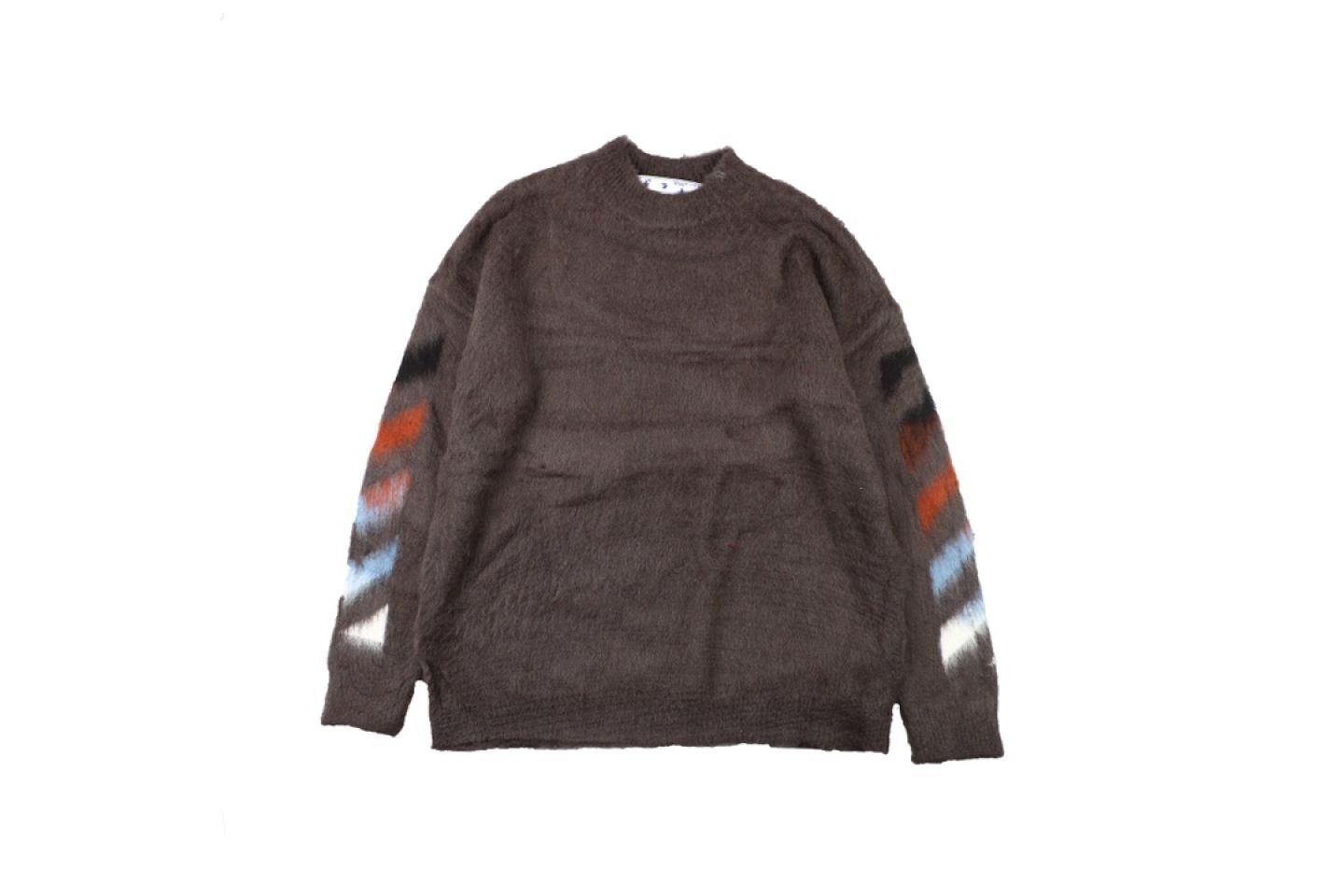 "Shirt Off-White 20SS mohair sweater ""Brown"" 1 1"