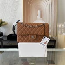 Chanel PreOwned Double flap shouldher bag Brown