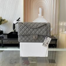 Chanel PreOwned Double flap shouldher bag Dark grey