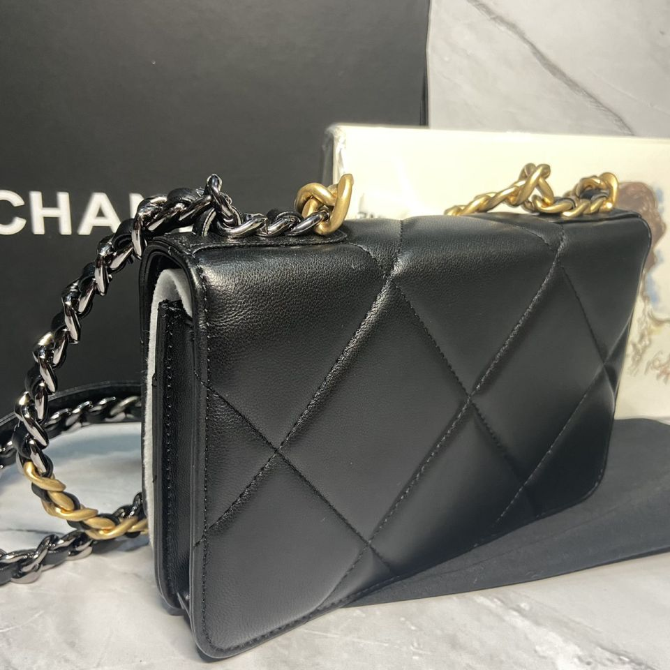 READY STOCK chanel WALLET ON CHAIN lamb skin gold chain 11 1_11
