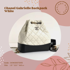 Chanel Gabrielle Backpack White
