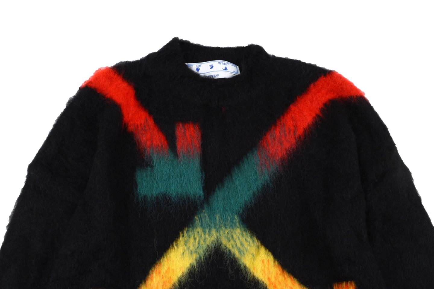 """Shirt Off-White 20SS mohair sweater intarsia jaqcuard """"Multicolor"""" 2 2"""