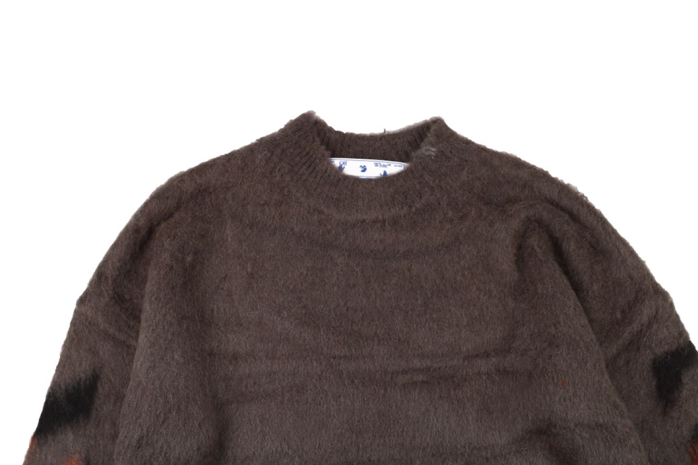"Shirt Off-White 20SS mohair sweater ""Brown"" 2 2"