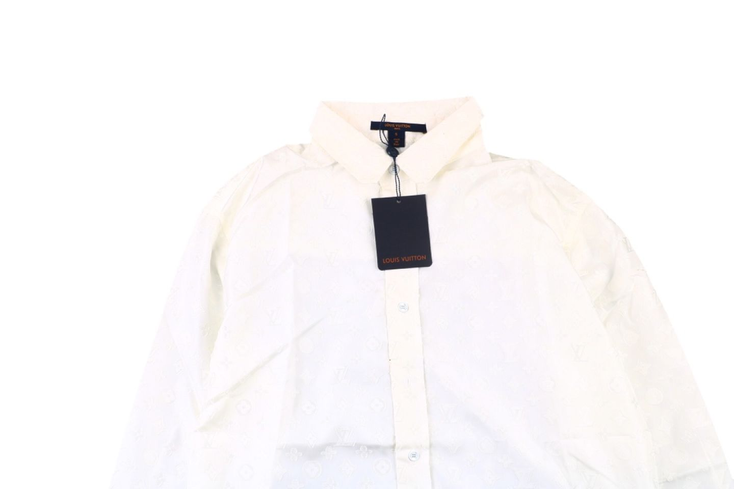 Shirt Louis Vuitton 20fw white full print jacquard shirt 2 2