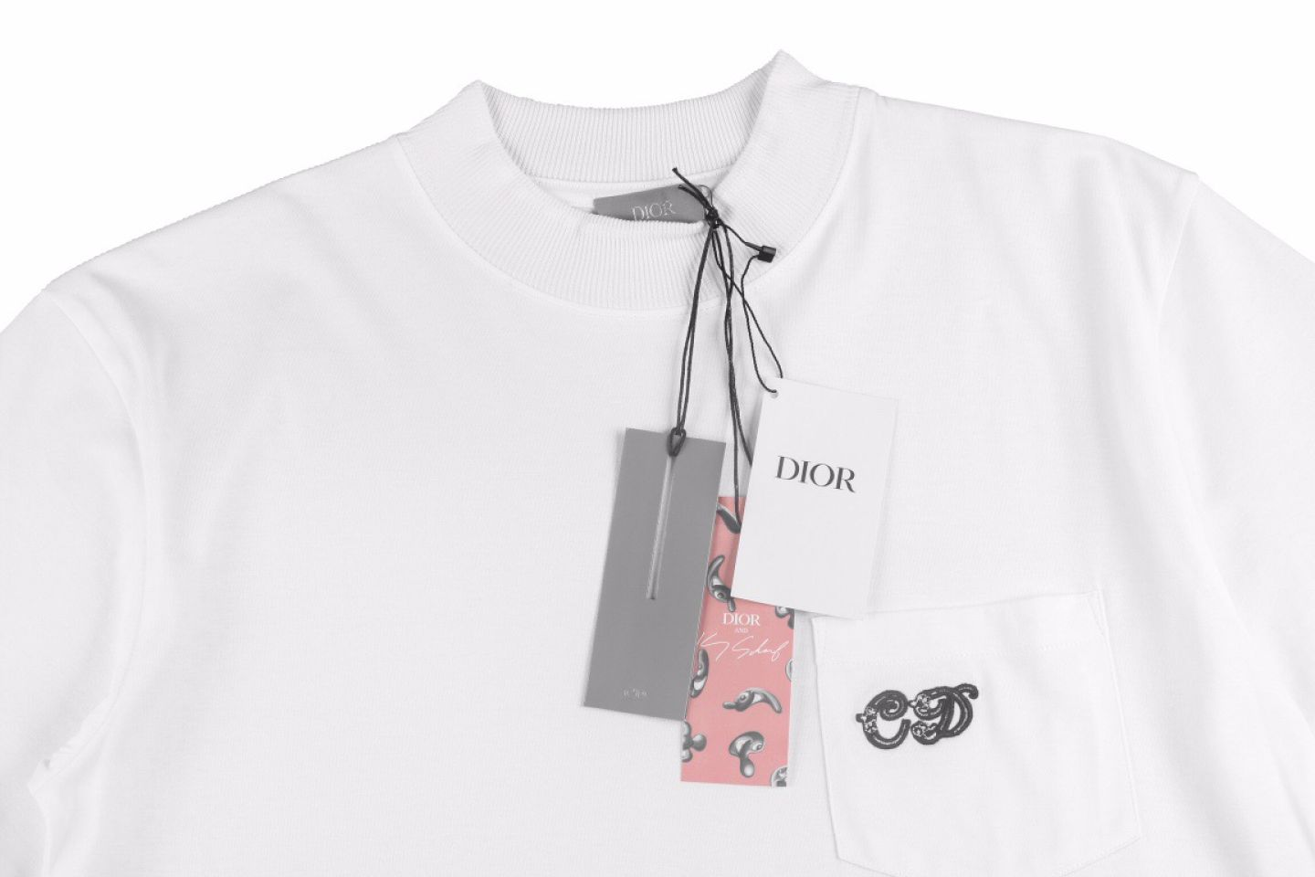 """Shirt Dior 21ss Elf series pocket embroidery tee """"White"""" 2 2"""
