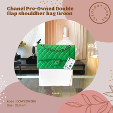 Chanel PreOwned Double flap shouldher bag Green