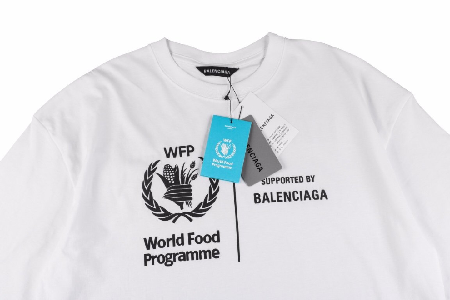 """Shirt Belancaiga 20SS Food Project Charity Fund """"White""""  2 2"""