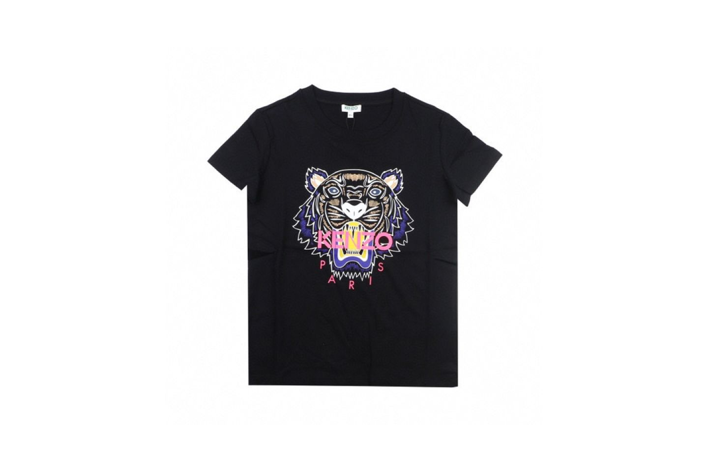 Shirt 2020 kenzo T-shirt Black Pink Purple 1 2020_kenzo_t_shirt_black_pink_purple_1