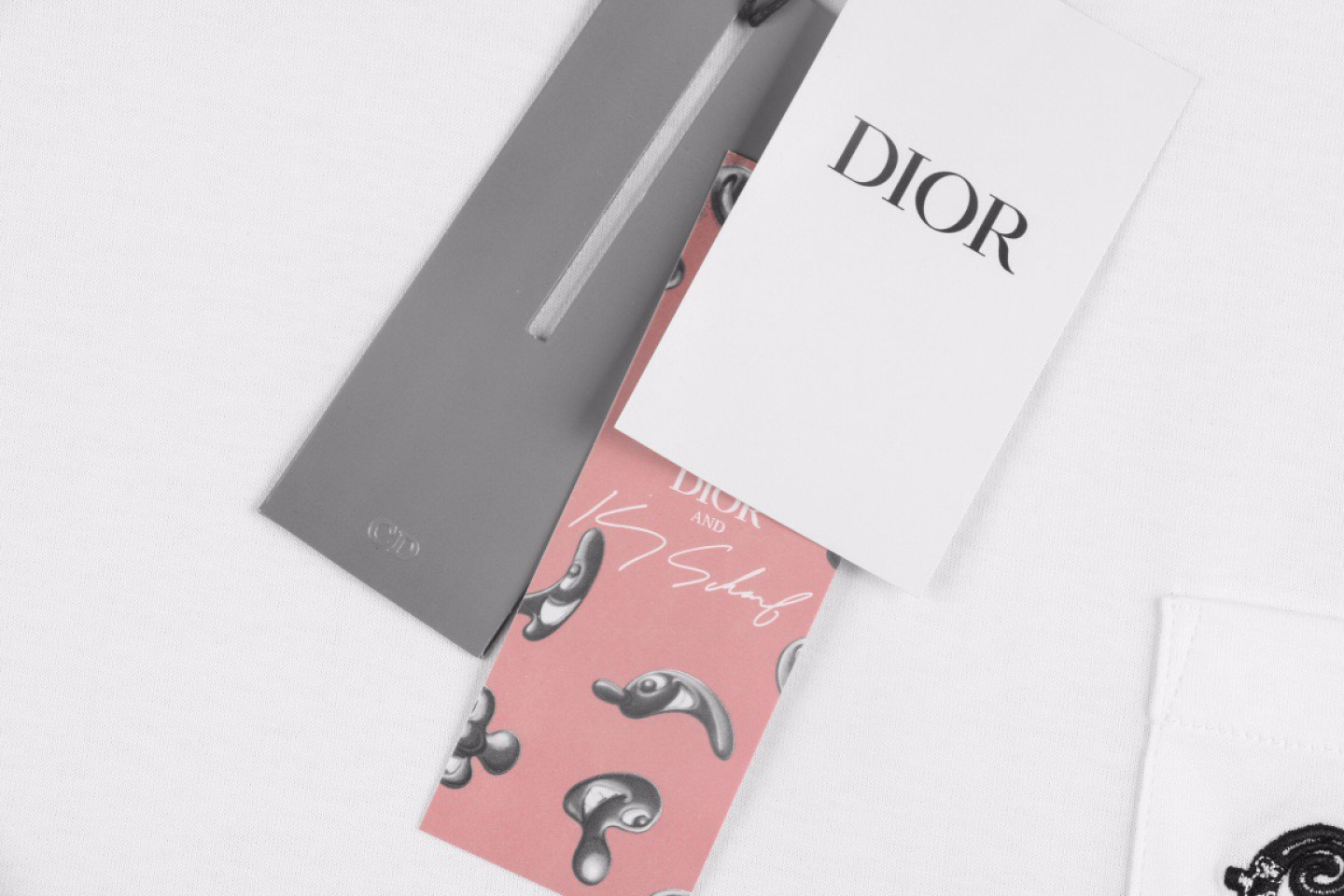 """Shirt Dior 21ss Elf series pocket embroidery tee """"White"""" 3 3"""