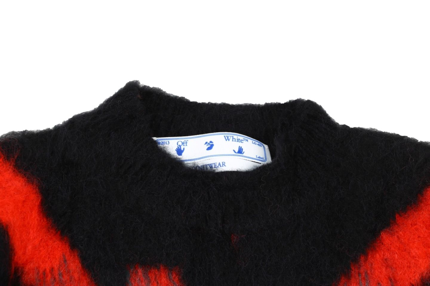 """Shirt Off-White 20SS mohair sweater intarsia jaqcuard """"Multicolor"""" 4 4"""