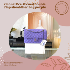 Chanel PreOwned Double flap shouldher bag purple