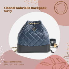 Chanel Gabrielle Backpack Navy