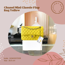 Chanel PreOwned Double flap shouldher bag Yellow