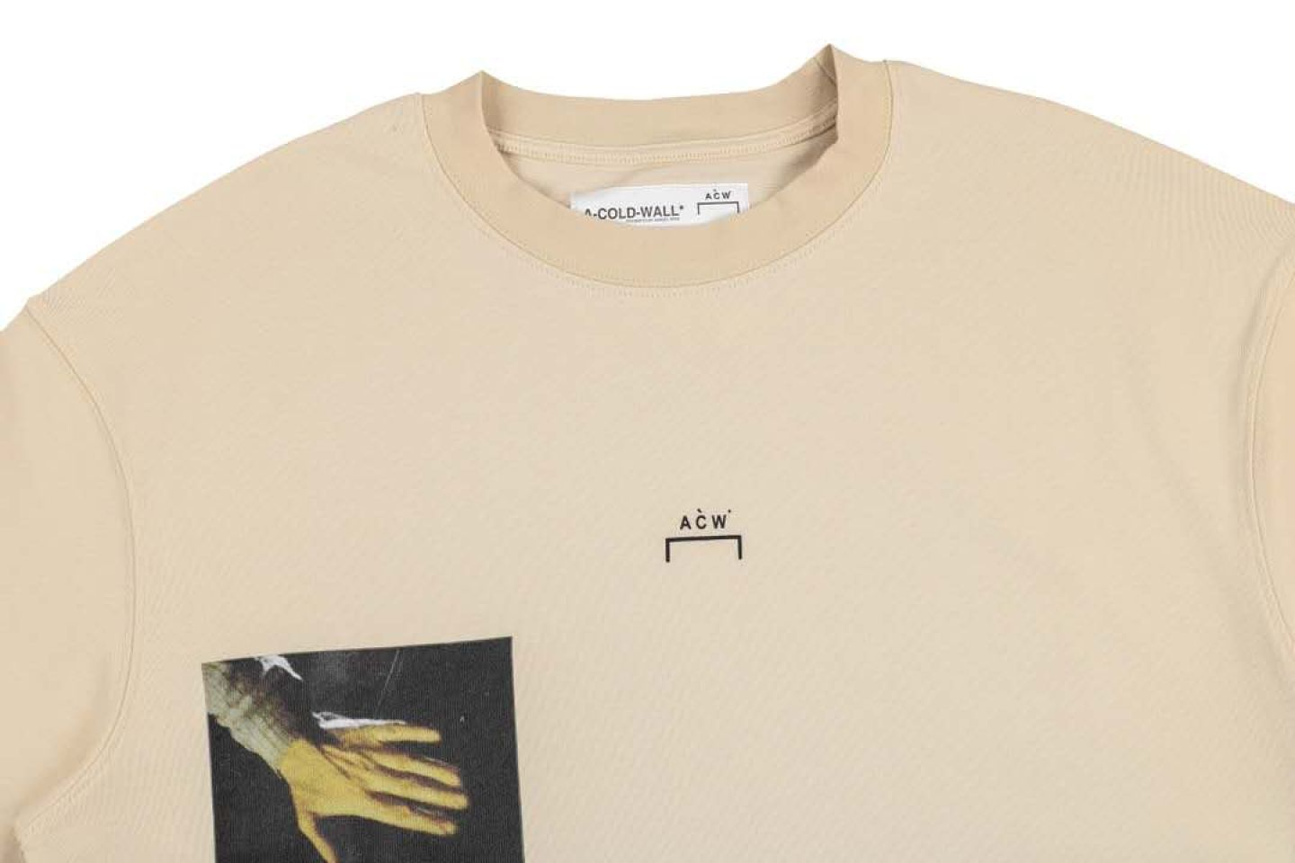 Shirt A-COLD-WALL cold wall oil painting photo short sleeve beige 2 a_cold_wall_cold_wall_oil_painting_photo_short_sleeve_beige__2