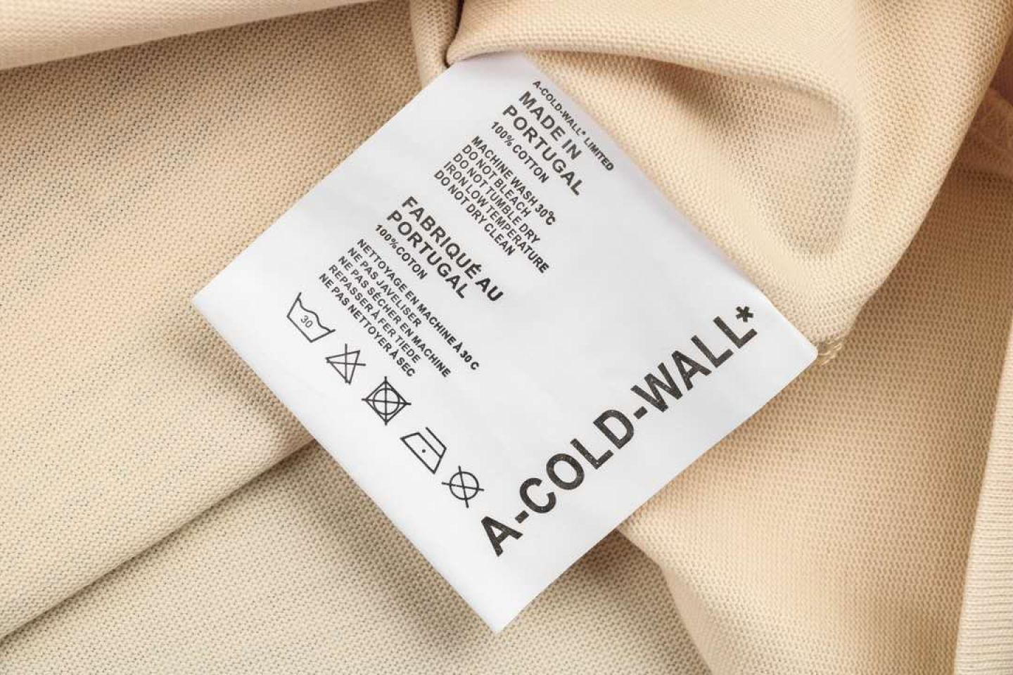 Shirt A-COLD-WALL cold wall oil painting photo short sleeve beige 3 a_cold_wall_cold_wall_oil_painting_photo_short_sleeve_beige__3