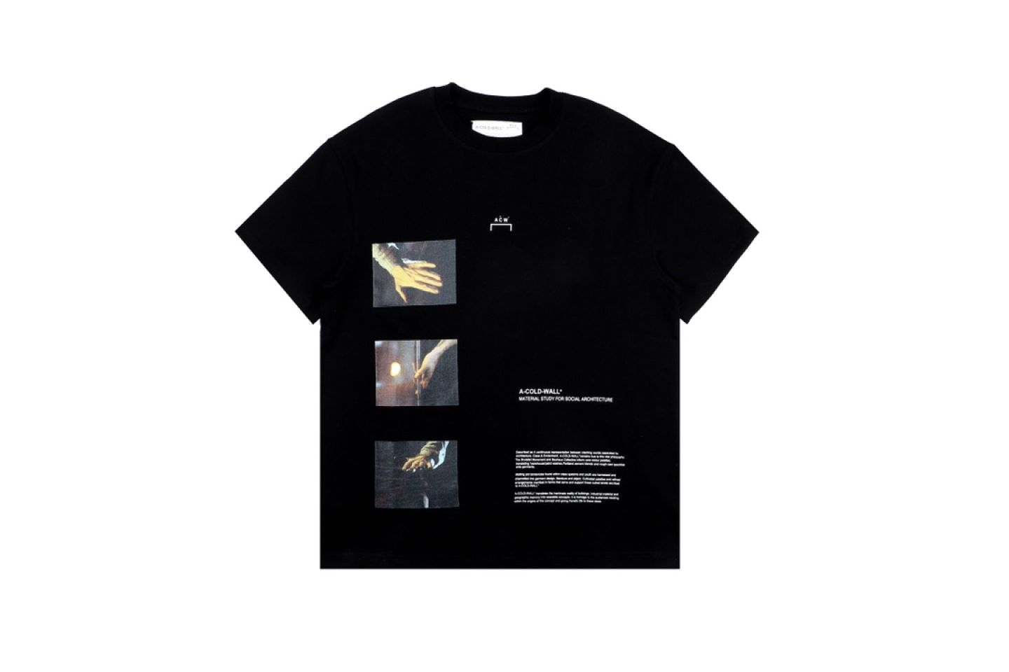 Shirt A-COLD-WALL cold wall oil painting photo short sleeve black 1 a_cold_wall_cold_wall_oil_painting_photo_short_sleeve_black__1