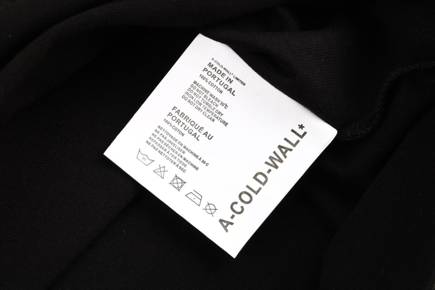 Shirt A-COLD-WALL cold wall oil painting photo short sleeve black 3 a_cold_wall_cold_wall_oil_painting_photo_short_sleeve_black__3