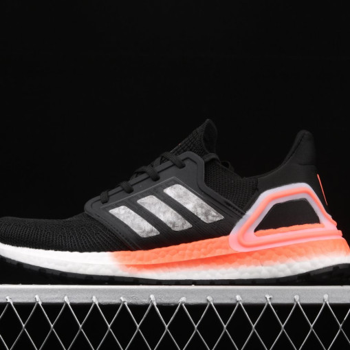 Adidas Ultra Boost 20 Core Black Signal Coral