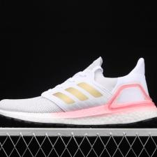 Adidas Ultra Boost 20 White Copper Flash Red