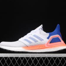 Adidas Ultra Boost 20 White Glory Blue Solar Red