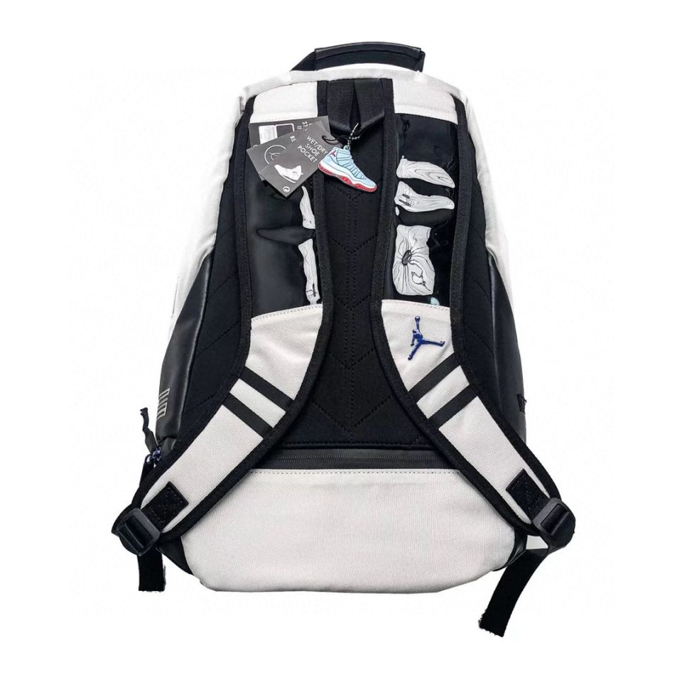Goods Air Jordan 10 Jordan Vintage Backpack Black and White Steel 5 air_jordan_10_jordan_vintage_backpack_black_and_white_steel__5