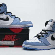 Air Jordan 1 High White University Black Blue