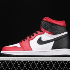 Air Jordan Retro 1 High Satin Snake Chicago