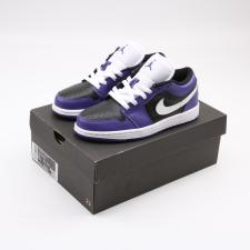 Air Jordan Retro 1 Low Court Purple Black