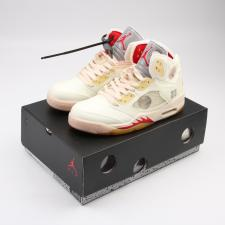 Air Jordan Retro 5 x OffWhite Sail