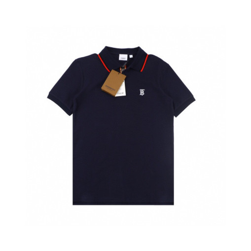 Burberry 20ss Embroidered TB Letter Small Logo Polo Shirt Short Sleeve Navy Blue