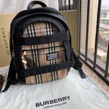 Burberry Large Logo and Kingdom Detail Nevis Backpack Archive Beige