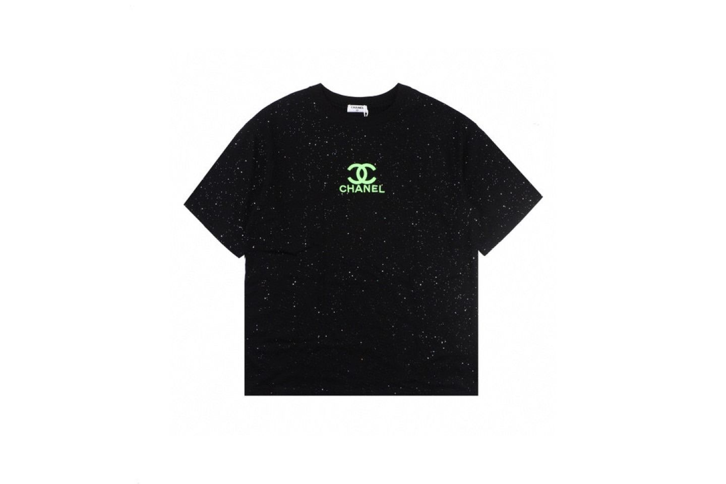 Shirt CHANEL20Ss starry green fluorescent embroidery short sleeve 1 chanel20ss_starry_green_fluorescent_embroidery_short_sleeve__1