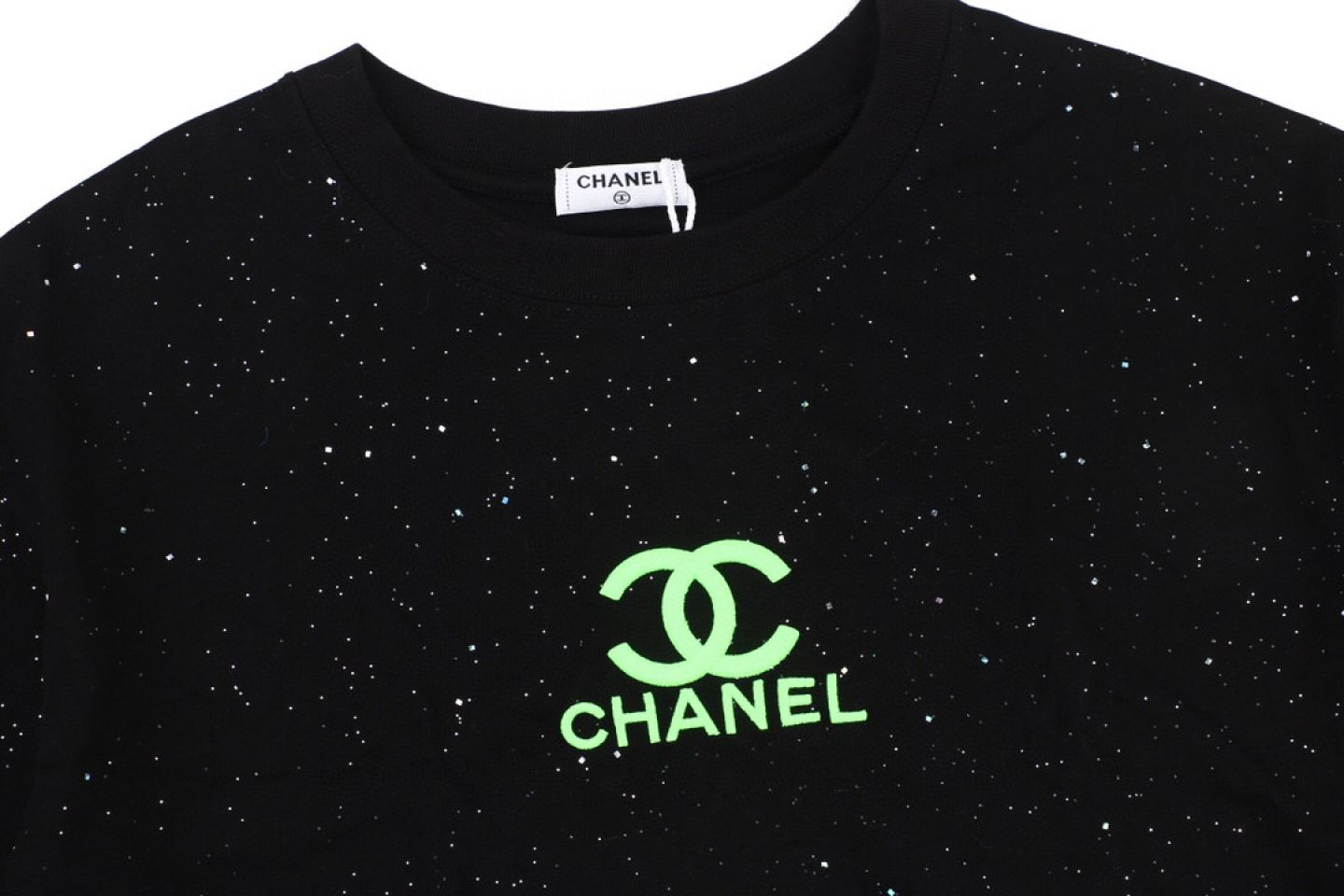 Shirt CHANEL20Ss starry green fluorescent embroidery short sleeve 2 chanel20ss_starry_green_fluorescent_embroidery_short_sleeve__2