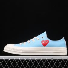 Converse Chuck Taylor AllStar 70s OX x Comme des Garcons Play Bright Blue