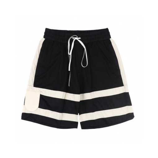Daniel Patrick 19ss stitched mesh medal embroidery shorts