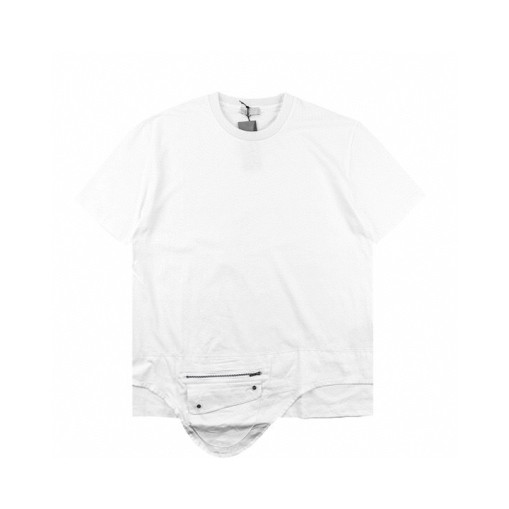 Dior new saddle bag pocket short sleeve 2020SS white