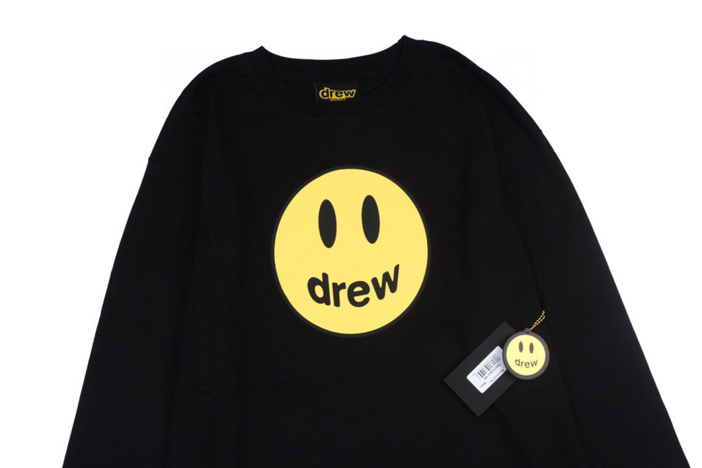 """Shirt Drew House 2020 classic smiley face long sleeve T-shirt """"Black"""" 2 drew_house_2020_classic_smiley_face_long_sleeve_t_shirt_black_2"""